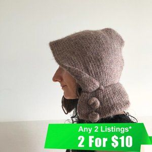 SALE! Unique Wool Knitted Winter Hat